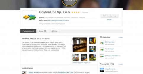 Profil pracodawcy w serwisie GoldenLine.pl