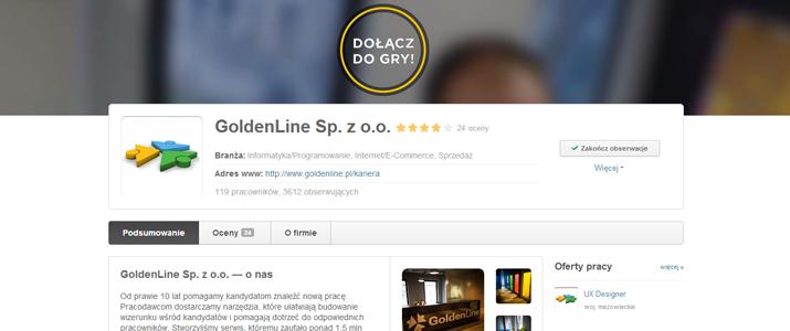 Profil Pracodawcy w GoldenLine
