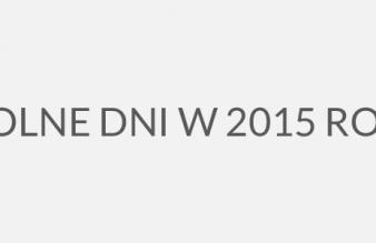 Kalendarz 2015 - kiedy najlepiej brać urlop